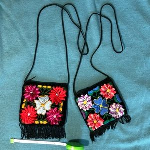 Handbags - Embroidered flower bag